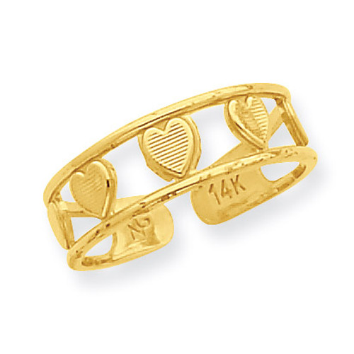 Heart Toe Ring 14k Gold R560
