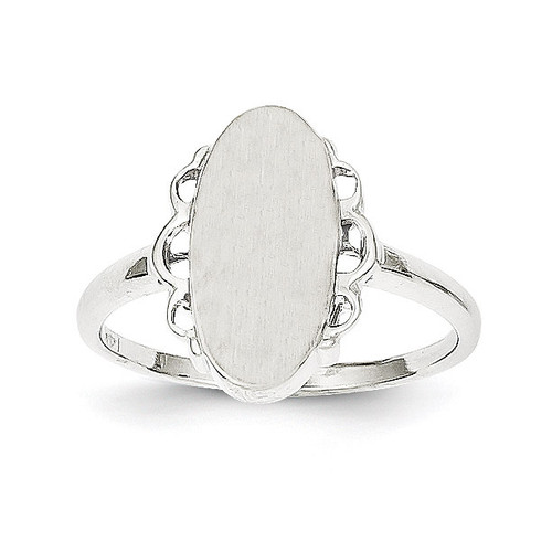 Signet Ring 14k White Gold RS560
