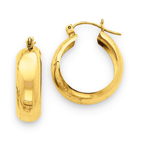 Hoop Earrings 14k Gold S1167