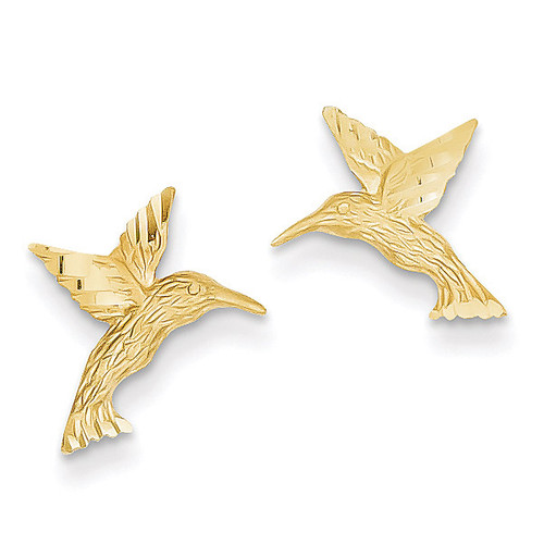 Hummingbird Earrings 14k Gold TC626