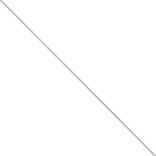 1.2mm Round Snake Chain 30 Inch 14k White Gold WSNA100-30