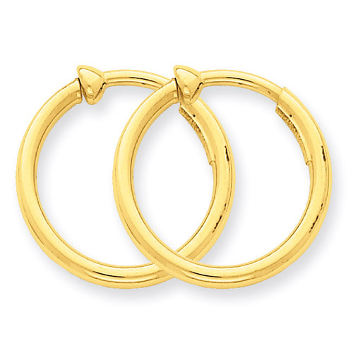 Non-Pierced Hoop Earrings 14k Gold X94