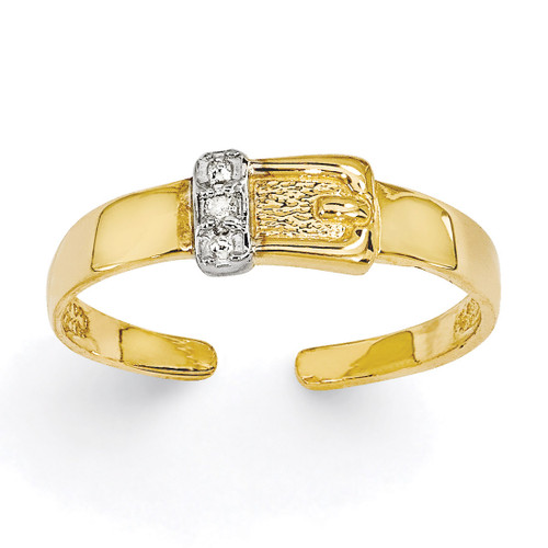 0.01ct Diamond Buckle Toe Ring 14k Gold XCH630