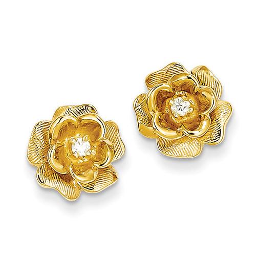 Diamond Post Earrings 14k Gold XE15VS