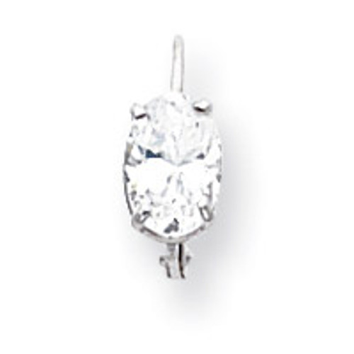 7x5mm Oval Leverback Mounting 14k White Gold XLB115W