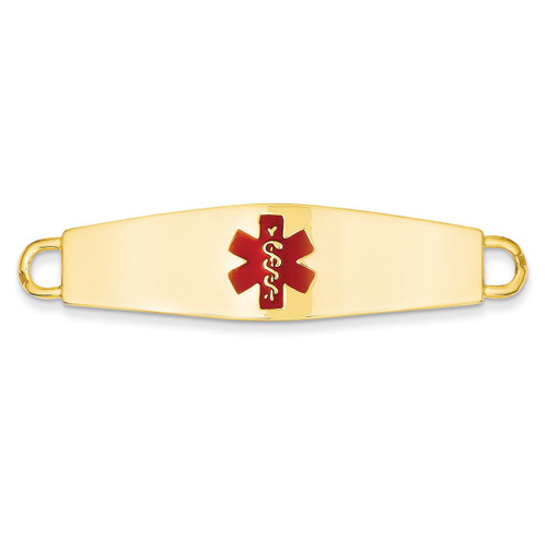 Medical Jewelry ID Plate 14k Gold XM37