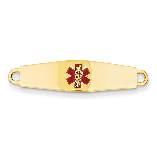 Medical Jewelry ID Plate 14k Gold XM38