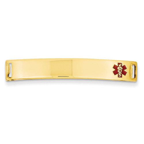 Medical Jewelry ID Plate 14k Gold XM393