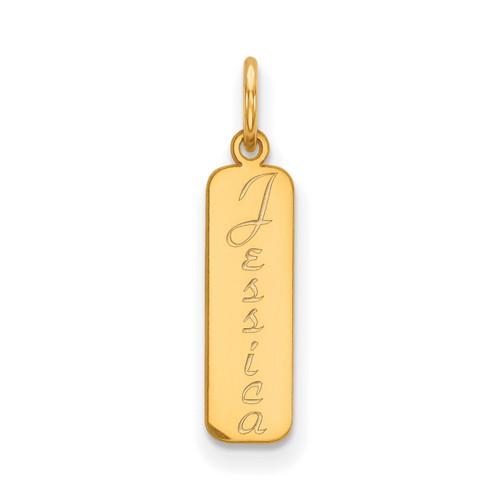 Vertical Nameplate 14k Gold XNA110Y