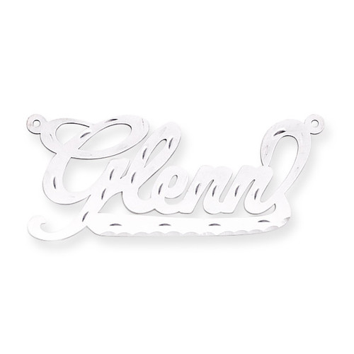 0.013 Gauge Polished Diamond-cut Nameplate 14k White Gold XNA151W