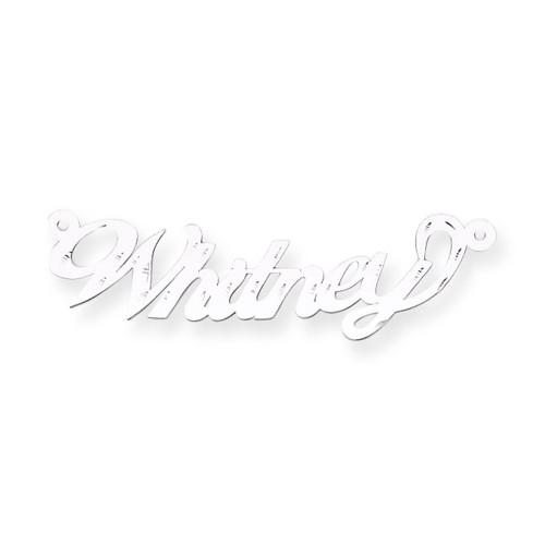 0.013 Gauge Polished Diamond-cut Nameplate 14k White Gold XNA162W