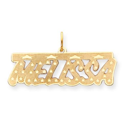 0.013 Gauge Bar with Stars Nameplate 14k Gold XNA80Y