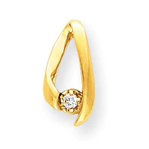 Diamond chain slide 14k Gold XP243AA