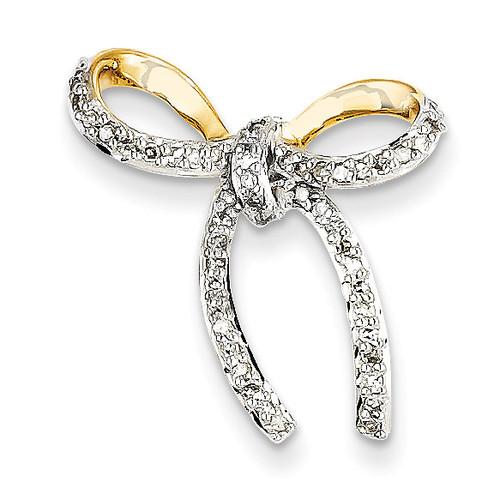 Diamond Bow Chain Slide 14k Gold XP4321AA