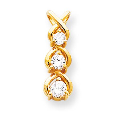 Diamond Chain Slide 14k Gold XP675AA