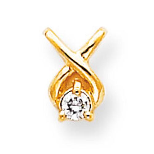 Diamond Chain Slide 14k Gold XP686AA