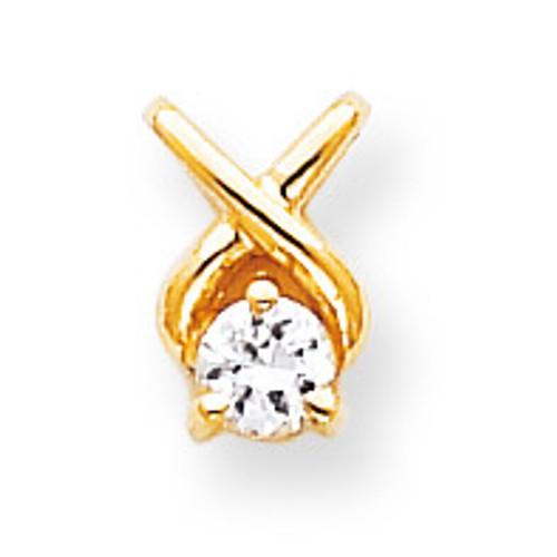 Diamond Chain Slide 14k Gold XP687AA