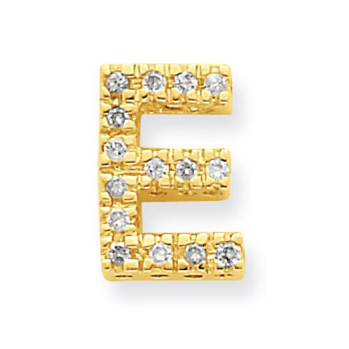 Diamond Initial E Charm 14k Gold XP857E