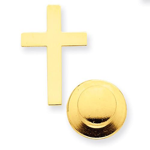 Cross Tie Tac 14k Gold Polished XR462