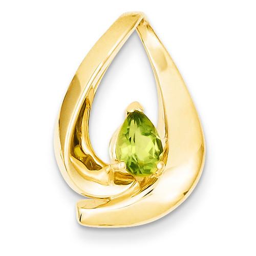 7x5mm Pear Peridot slide 14k Gold XS195PE