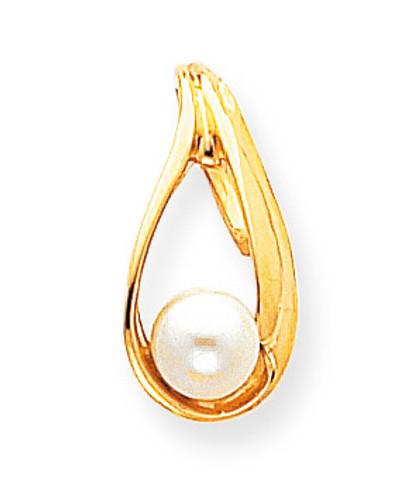 6mm Cultured Pearl slide 14k Gold XS615PL