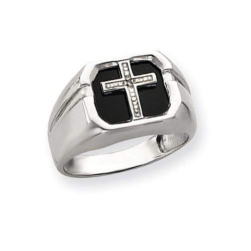 Diamond men's ring 14k White Gold Y4026AA