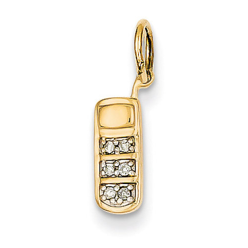 Diamond Cell Phone Charm 14k Gold YC301