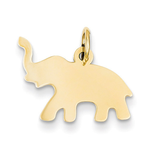 Elephant Charm 14k Gold YC635