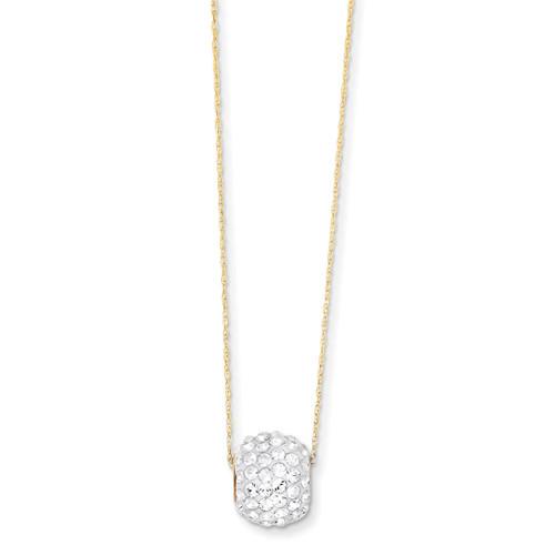 Crystal Slider Necklace 18 Inch 14k Gold YE1448-18