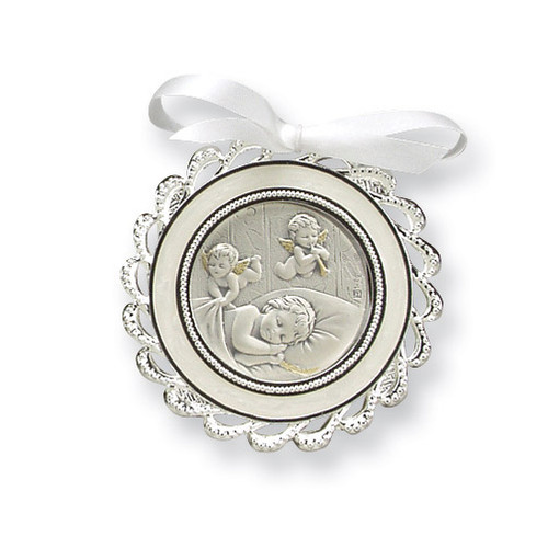 Ivory Crib Medal Sterling Silver GP5486