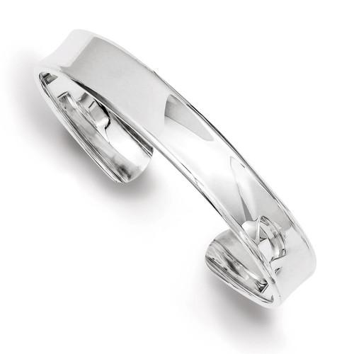 8.5mm Cuff Bangle Sterling Silver QB323
