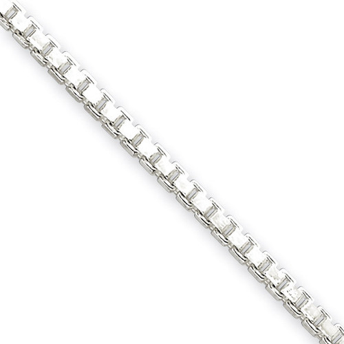 18 Inch 2.5mm Box Chain Sterling Silver QBX050-18