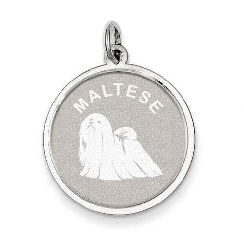 Maltese Disc Charm Sterling Silver QC2694