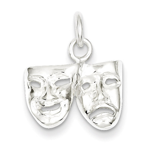 Comedy Tragedy Charm Sterling Silver MPN: QC3091