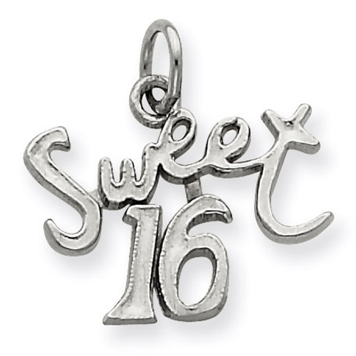 Sweet 16 Charm Sterling Silver QC344