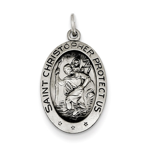 Saint Christopher Medal Sterling Silver QC3556