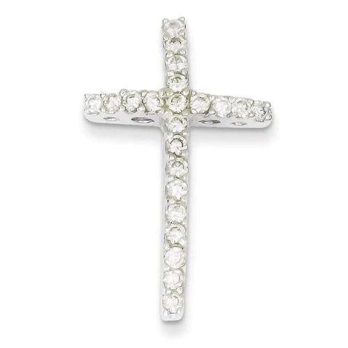 Cross Slide Sterling Silver Diamond QC5296