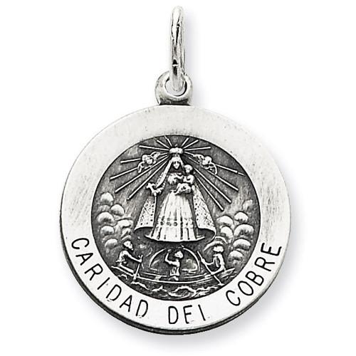 Caridad del Cobre Medal Sterling Silver QC5593