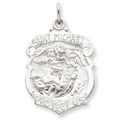 Saint Michael Badge Medal Sterling Silver QC5624
