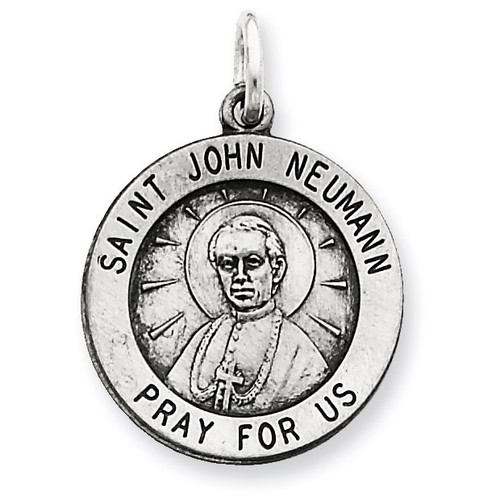 Saint John Neumann Medal Antiqued Sterling Silver QC5745