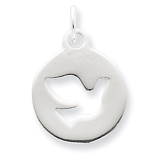 Circle Dove Charm Sterling Silver QC6694