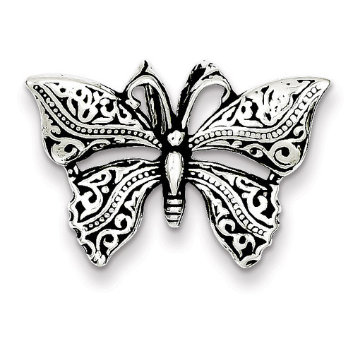 Butterfly Slide Antiqued Sterling Silver QC7567