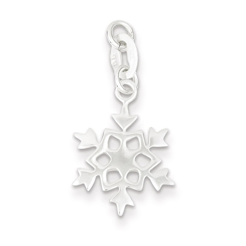 Snowflake Charm Sterling Silver Polished QC7573