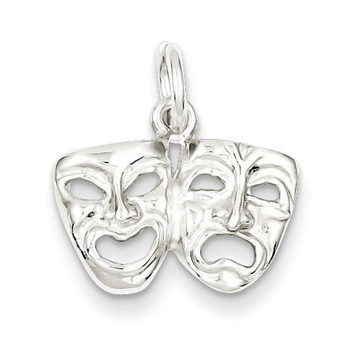 Comedy tragedy Charm Sterling Silver MPN: QC799