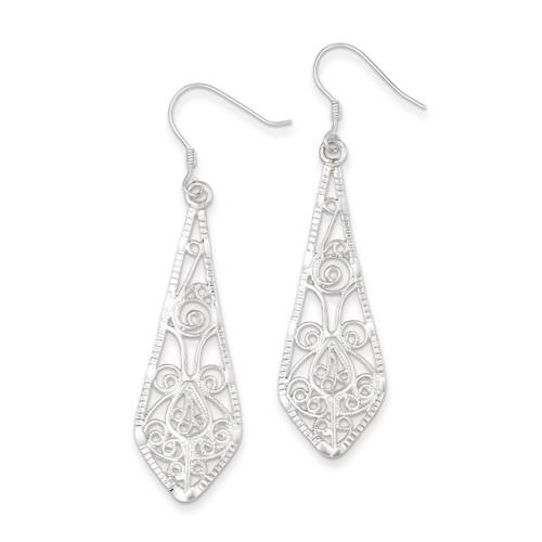 Filigree Earrings Sterling Silver QE2