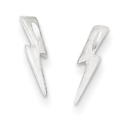 Lightning Bolt Post Earrings Sterling Silver QE3316
