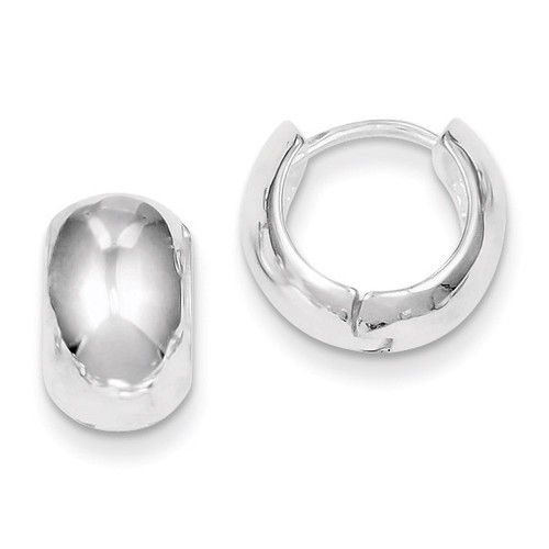 Huggy-Style Earrings Sterling Silver QE3438