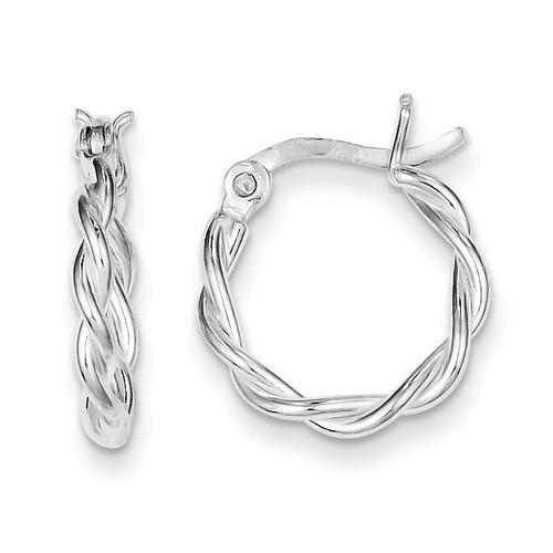 Twisted Hoop Earrings Sterling Silver QE3784