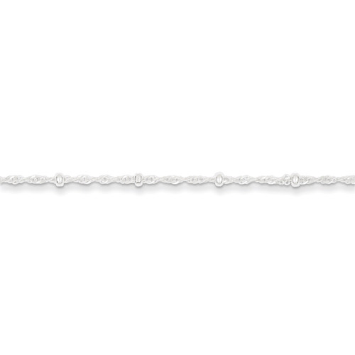 10 Inch 2.50mm Fancy Anklet Sterling Silver QFC165-10