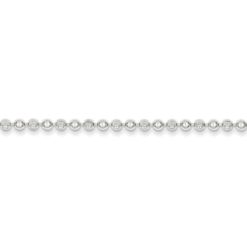 10 Inch 3mm Bead Anklet Sterling Silver QFC166-10